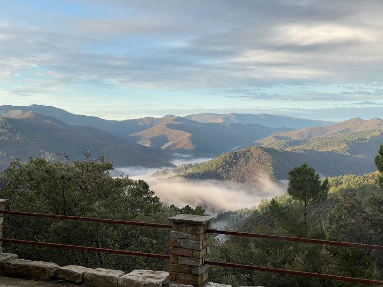La matin à 9h, vue de la terrasse