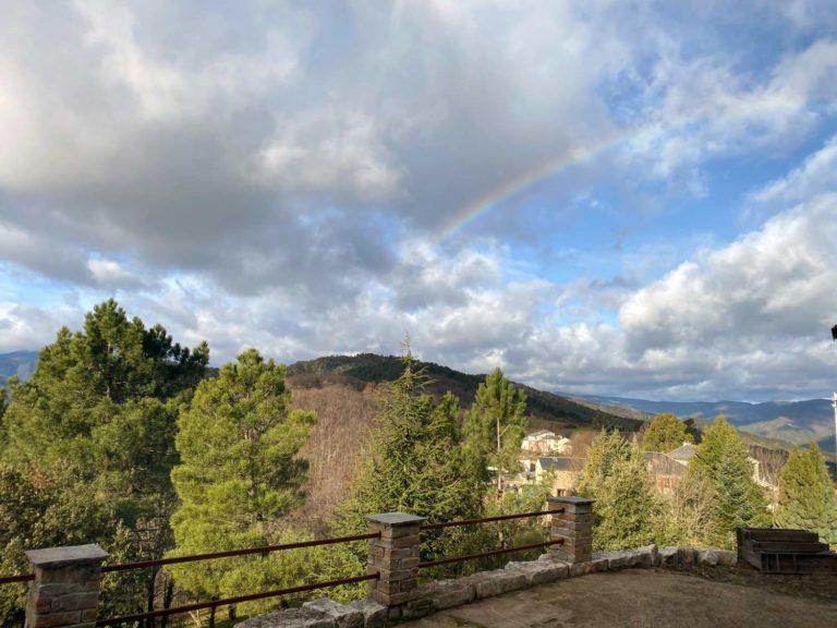 Arc en ciel observé depuis la maison